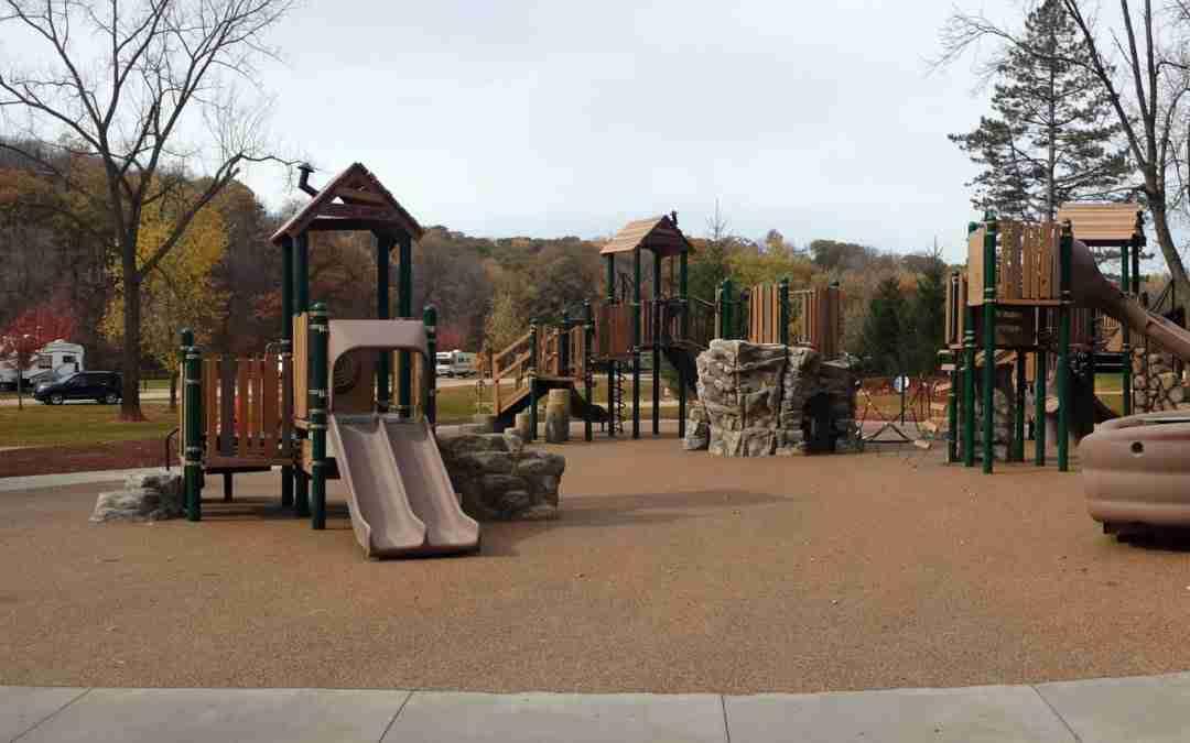 Pinicon Ridge Park in Central City, Iowa